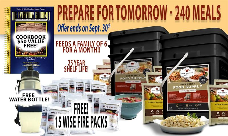 SEPTEMBER IS NATIONAL PREPAREDNESS MONTH! SAVE BIG WITH OUR LIMITED TIME SALE!