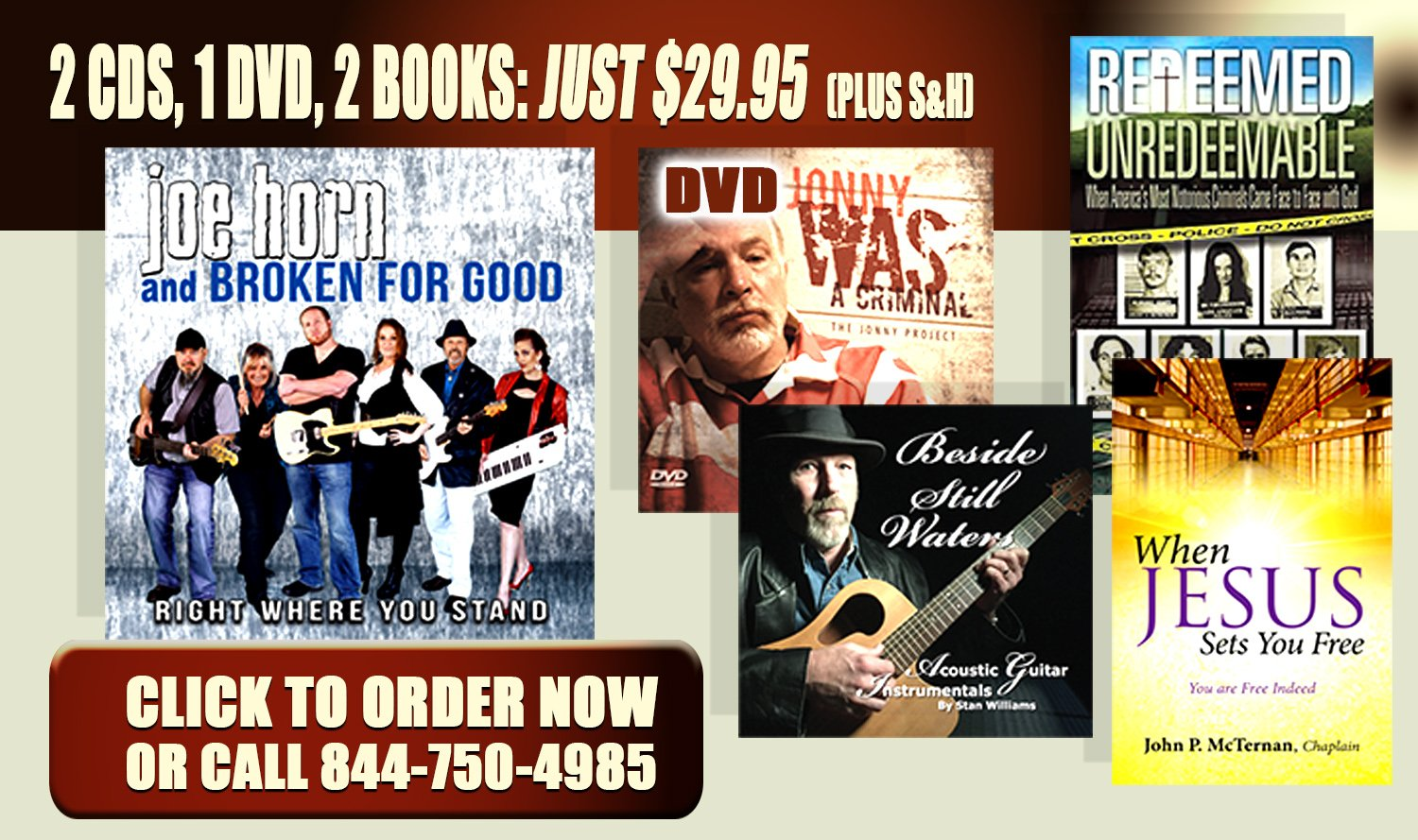 "FREE BOOKS & DVDS WITH THE CHRISTIAN MUSIC BROADCAST SPECIAL ""THE JONNY PROJECT"""