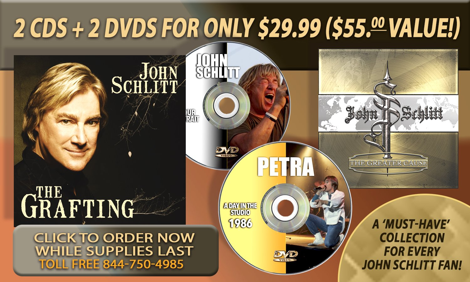 IT'S THE ULTIMATE JOHN SCHLITT COLLECTION WITH EXCLUSIVE DVD DOCUMENTARY!