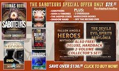 OVER $130.00 IN FREE GIFTS INCLUDING THE DELUXE OVERSIZED HARDBACK COLLECTOR'S 2-VOLUME DEMONOLOGY SET WHEN YOUR ORDER SABOTEURS!